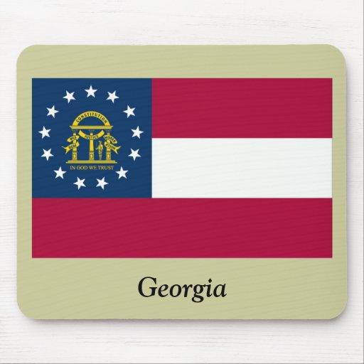 Georgia State Flag Mouse Pads