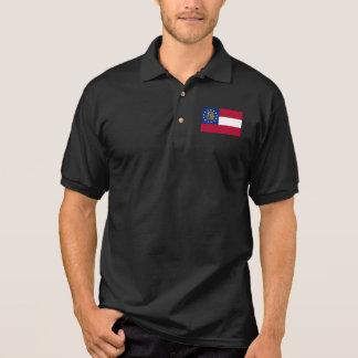 Georgia State Flag Polo Shirt