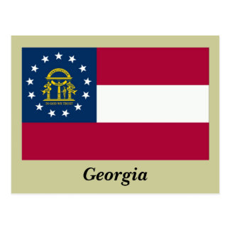 Georgia State Flag Postcard