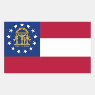 Georgia State flag Rectangular Sticker