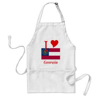 Georgia State Flag Standard Apron