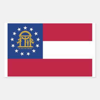 Georgia State Flag Sticker - 4 per sheet