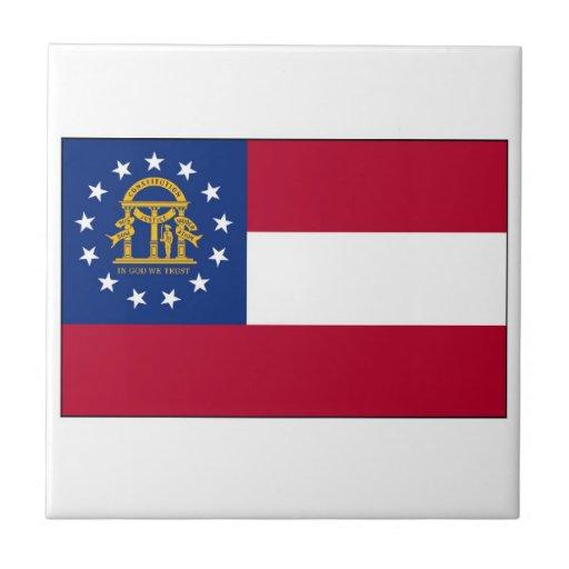 Georgia State Flag Tiles
