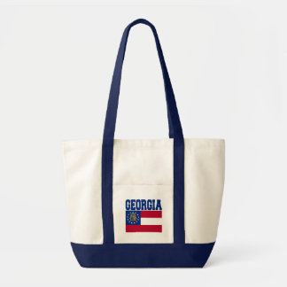 Georgia State Flag Tote Bag