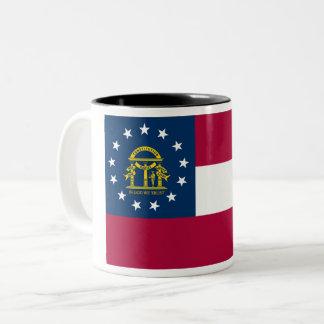 Georgia State Flag Two-Tone Coffee Mug