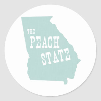 Georgia State Motto Slogan Classic Round Sticker