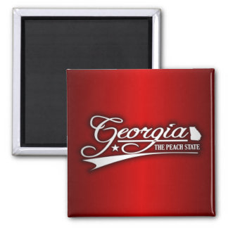 Georgia State of Mine Square Magnet