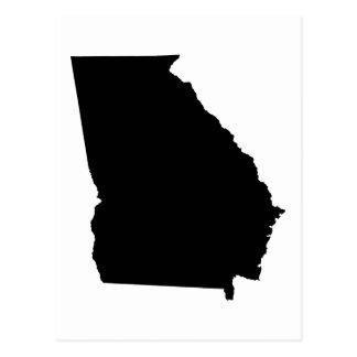 Georgia State Outline Postcard
