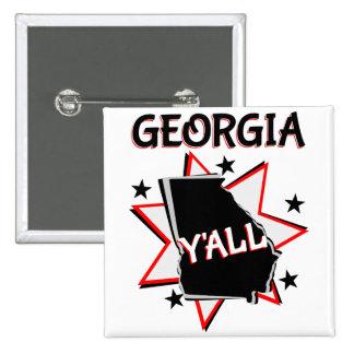 Georgia State Pride Y'all 15 Cm Square Badge