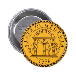 Georgia State Seal 6 Cm Round Badge