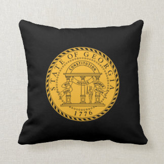 Georgia state seal america republic symbol flag cushion