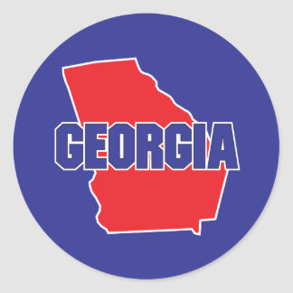 Georgia State Round Sticker