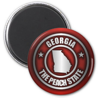 """Georgia Steel"" Magnets (Red)"