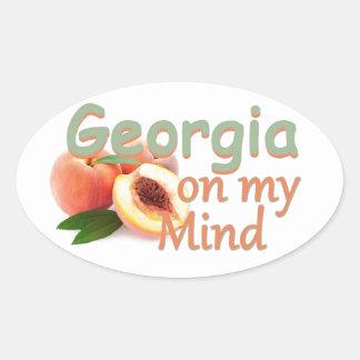 GEORGIA OVAL STICKER