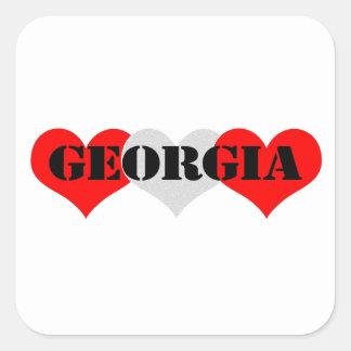 Georgia Square Stickers