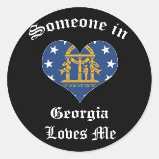 Georgia Round Sticker