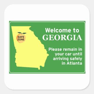 Georgia Square Sticker