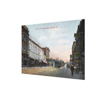 Georgia Street View with Street Car Canvas Print