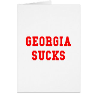 Georgia Sucks Greeting Card