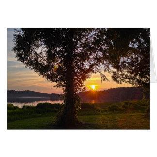 Georgia Sunset - Lake Acworth 4 Card