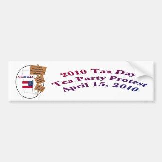 Georgia Tax Day Tea Party Protest Bumper Sticker Car Bumper Sticker