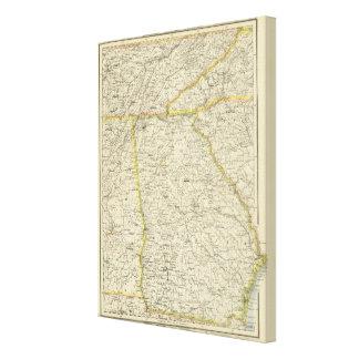 Georgia, Tennessee,  Alabama Canvas Print