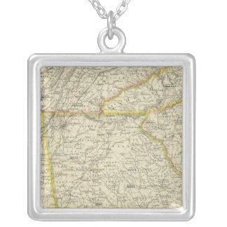 Georgia, Tennessee,  Alabama Silver Plated Necklace