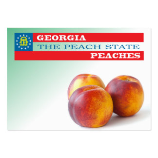 Georgia - the peach state business cards