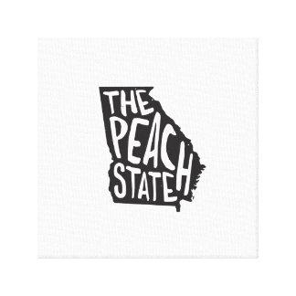 Georgia: The Peach State Gallery Wrap Canvas