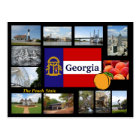 Georgia The Peach State Postcard