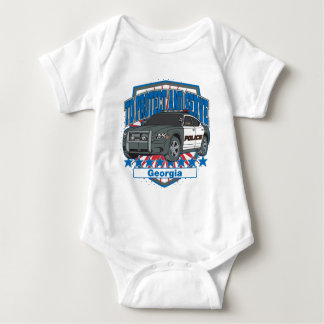 Georgia To Protect and Serve Police Car Baby Bodysuit