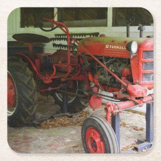 Georgia Tractor Square Paper Coaster