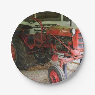 Georgia Tractor 7 Inch Paper Plate