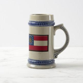 Georgia U.S. Flag Coffee Mugs