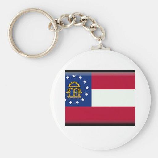 Georgia (US) Flag Keychain