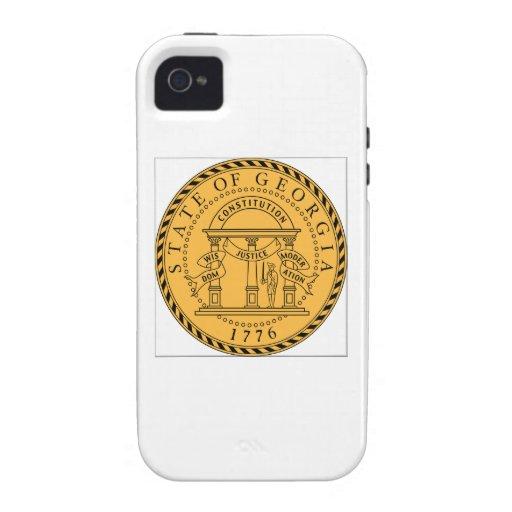 Georgia (US) State Seal iPhone 4 Cases