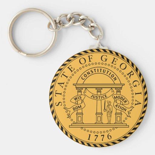 Georgia (US) State Seal Key Chain