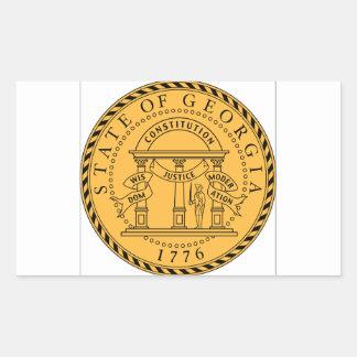 Georgia (US) State Seal Rectangular Sticker