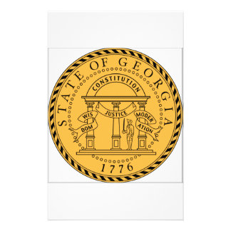 Georgia US State Seal Customized Stationery
