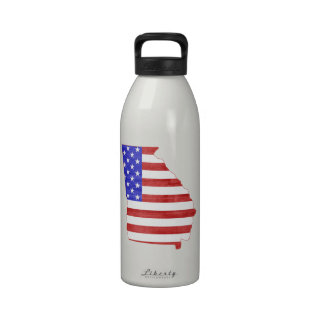 Georgia USA silhouette state map Reusable Water Bottles