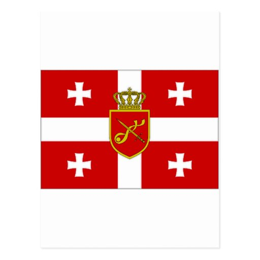 Georgia War Flag Postcard