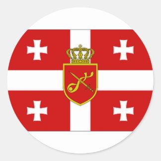 Georgia War Flag Stickers