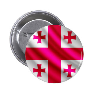 Georgia waving flag pinback button