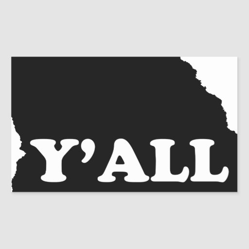 Georgia Yall Rectangular Sticker