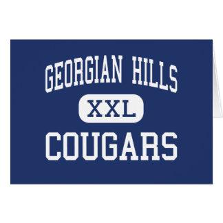 Georgian Hills - Cougars - Junior - Memphis Greeting Card