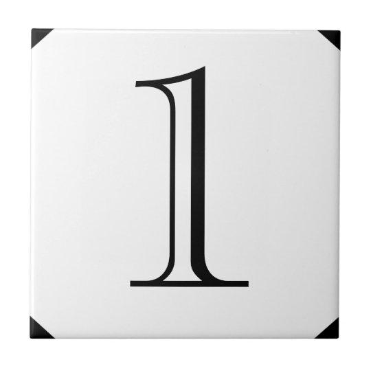 Georgian House Number Tiles