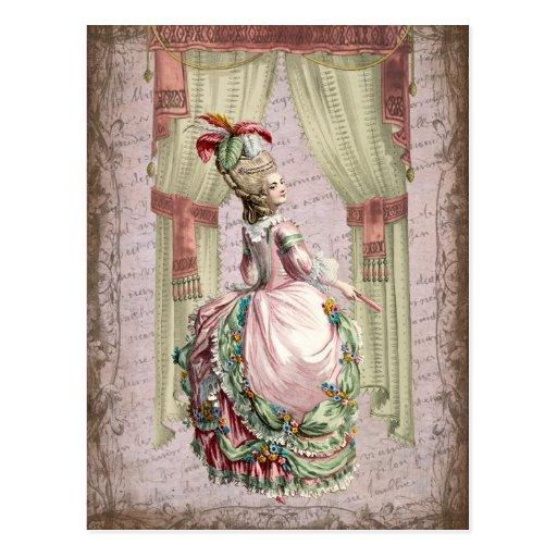Georgian Lady - wink Post Cards
