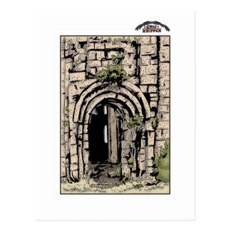Georgian monastery postcard