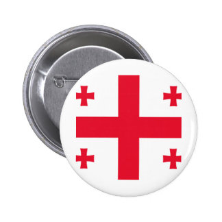 Georgian pride 6 cm round badge