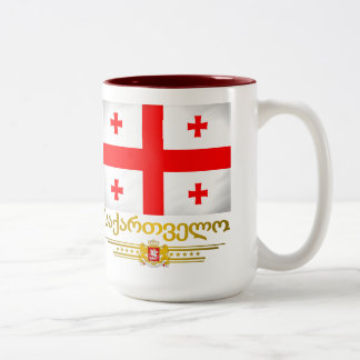 Georgian Pride Two-Tone Coffee Mug